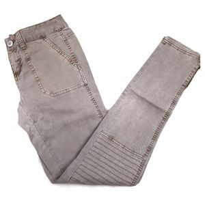 Mossimo Slim Skinny Moto Ankle Zip Jeans Gray Sz 9
